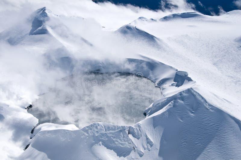 Mount Ruapehu Crater - Tongariro National Park stock photography