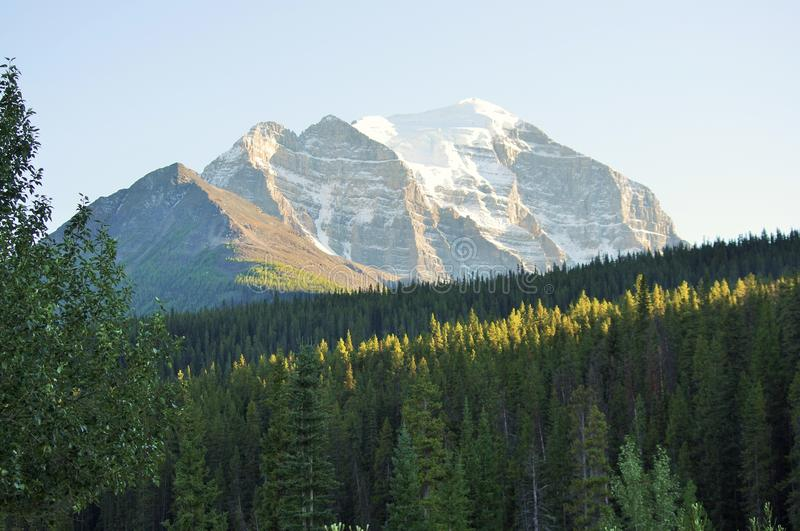 Mount Rundle in Banff National Park royalty free stock photos
