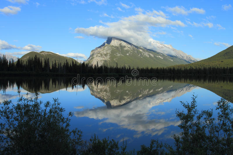 Mount Rundle And Vermilion Lakes Stock Photo