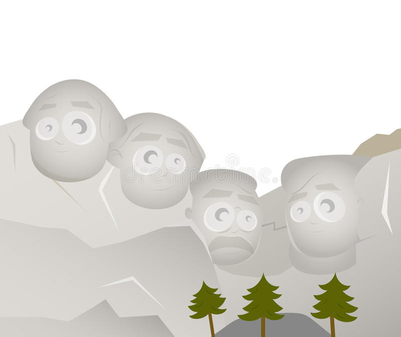 Download Mount rushmore stock vector. Image of cute, honor, clip - 28944112