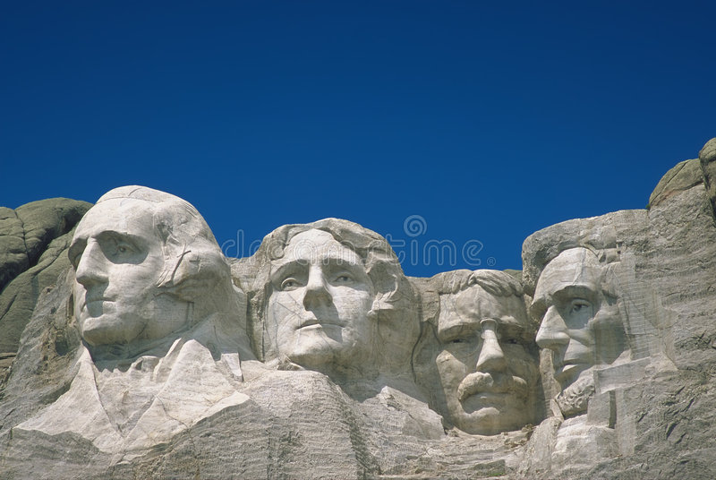 Mount Rushmore. South Dakota - with plenty of sky room for type