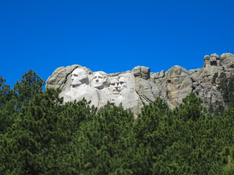 Mount Rushmore on a clear summer day stock photos
