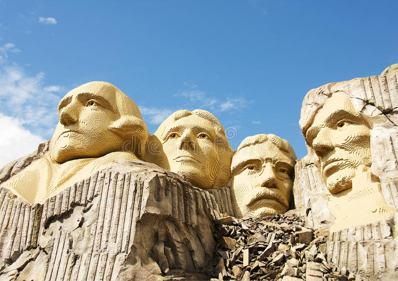 Mount Rushmore in Lego royalty free stock image