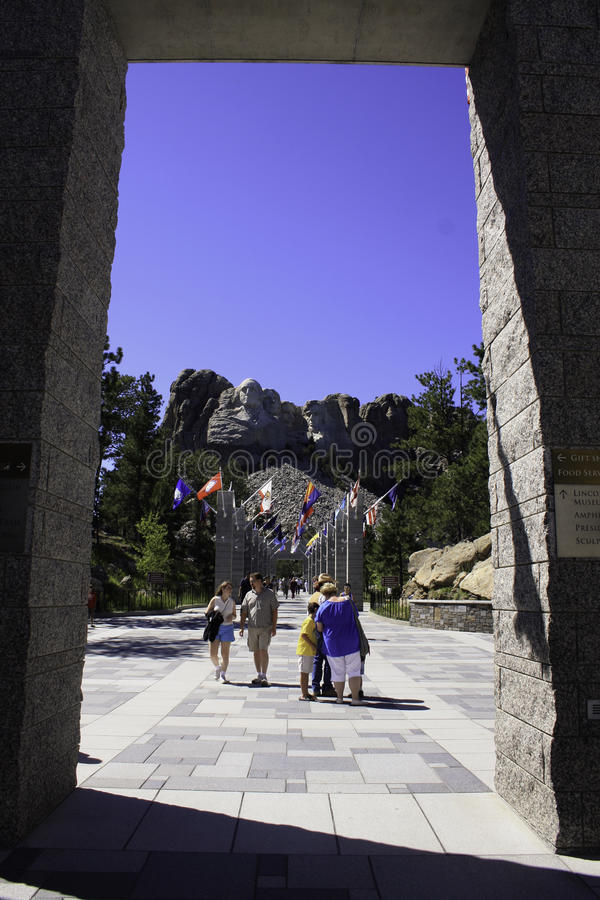 Mount Rushmore medborgareminnesmärke South Dakota arkivbilder