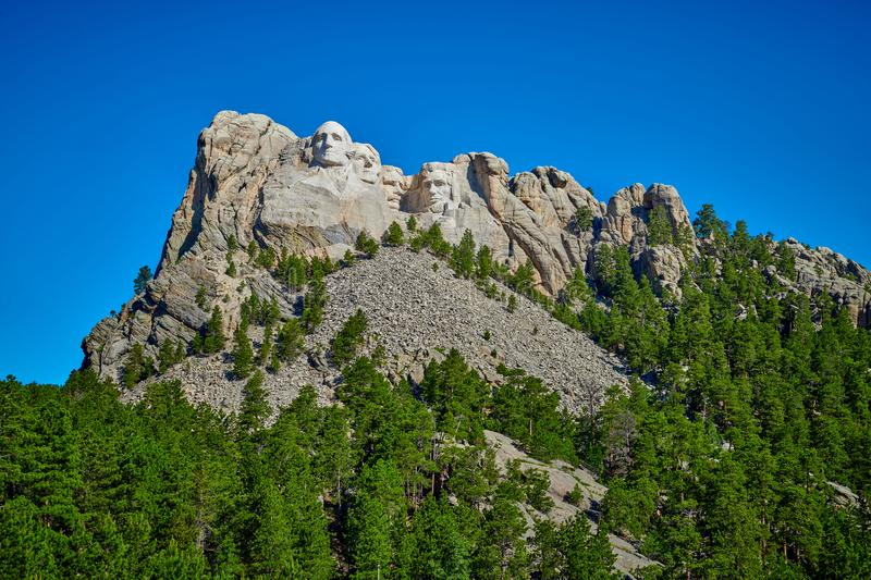 Mount Rushmore medborgaremonument royaltyfri bild