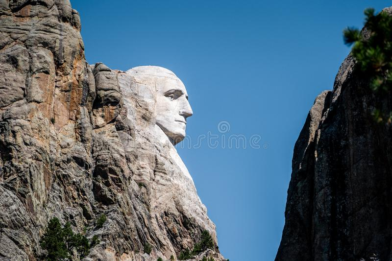 Mount rushmore national memorial , one of the famous national park and monuments in South Dakota, United States of America royalty free stock images