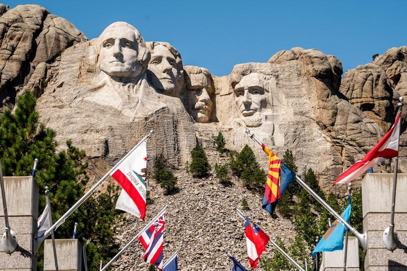 Mount rushmore national memorial , one of the famous national park and monuments in South Dakota, United States of America stock photography
