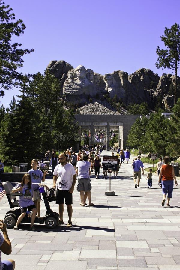 Mount Rushmore National Memorial South Dakota. Tourists visiting Mount Rushmore National Memorial in South Dakota, United States royalty free stock image
