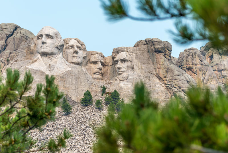 Mount Rushmore nationell minnes- skulptur arkivbilder