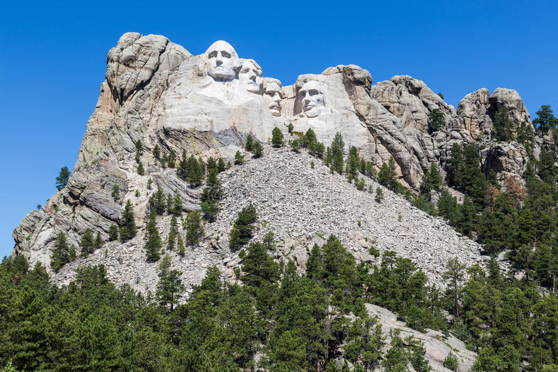 Mount Rushmore nationell minnesmärke, South Dakota, USA arkivfoton