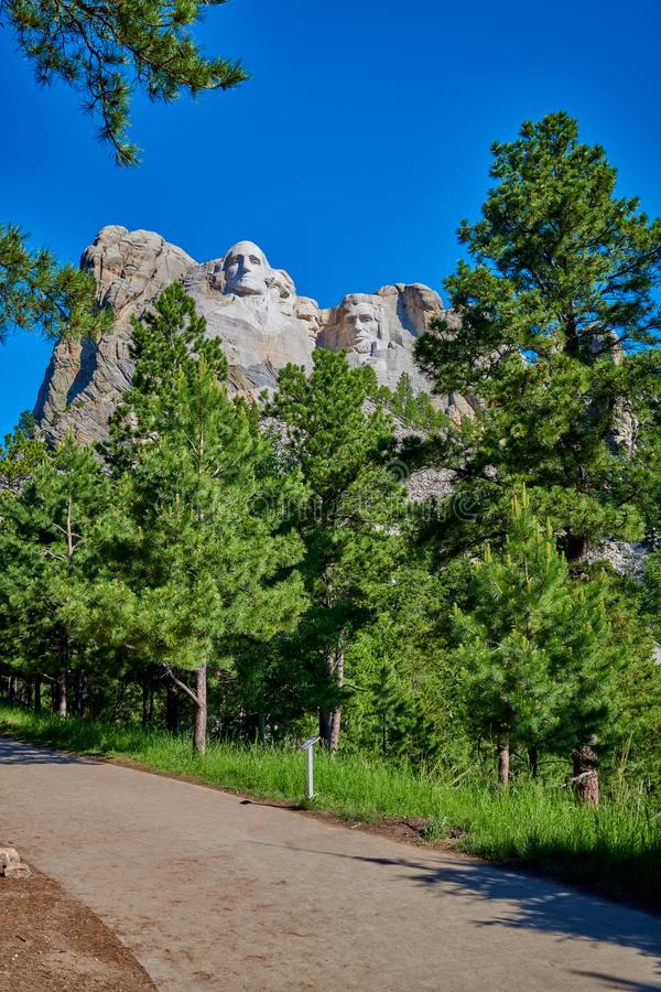 Mount Rushmore nationell monument i South Dakota arkivfoto