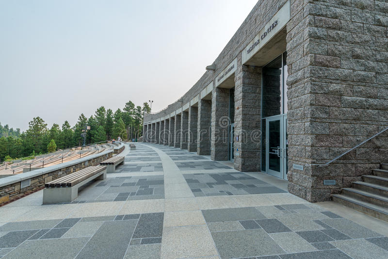 Mount Rushmore nationella minnes- Lincoln Borglum Visiter Center arkivbilder