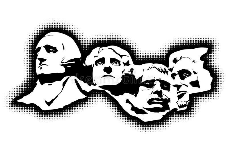 mount rushmore pamiątkowy royalty ilustracja