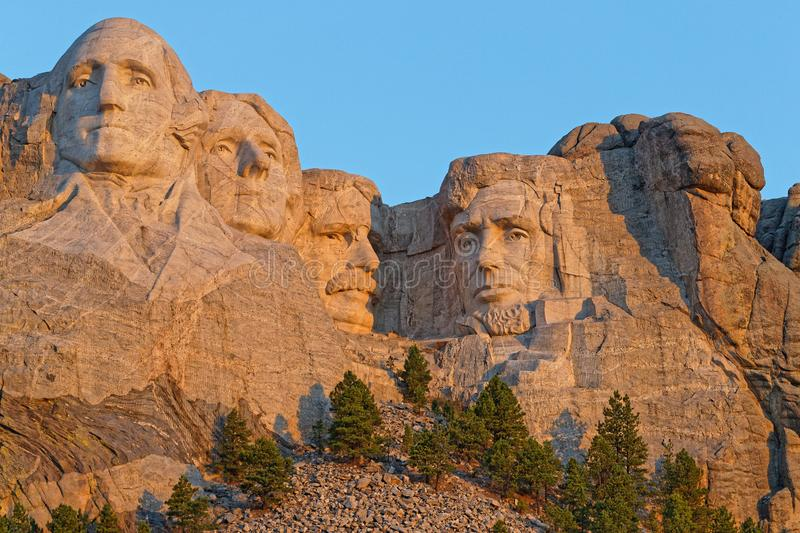 Mount Rushmore sculptures of the Presidents royalty free stock photo