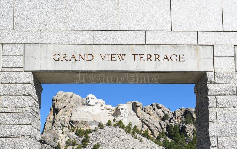 Mount Rushmore storslagen siktsterrassbåge fotografering för bildbyråer