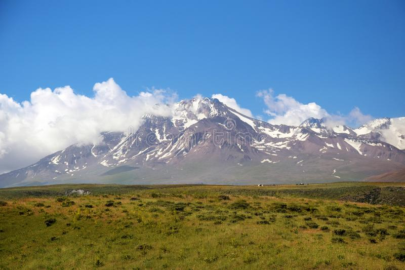 Mount Sabalan stock image