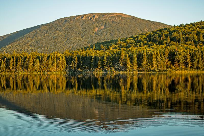 Mount Sagamook Stands In The Background Behind Big Nictau Lake. Looking across Big Nictau Lake at Mount Sagamook in Mount Carleton Provincial Park. The location royalty free stock photos
