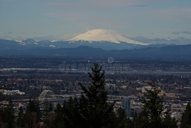 Mount Saint Helens and Portland B royalty free stock photography