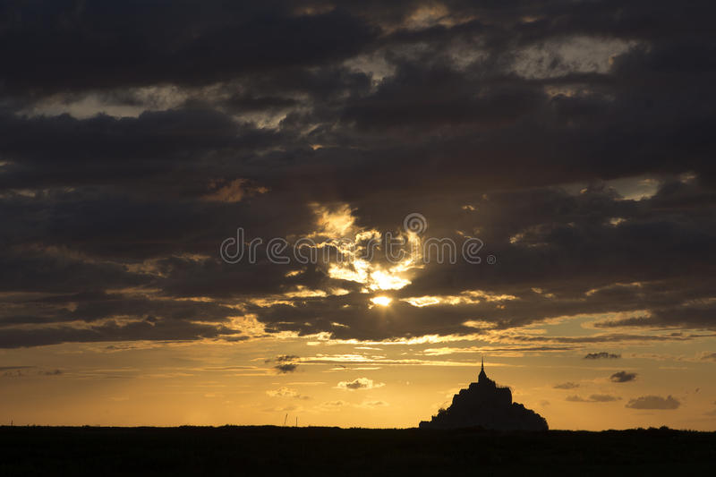 Mount Saint Michel in Normandy France stock image