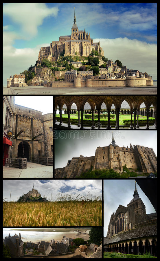 Download Mount Saint Michel poster stock photo. Image of agriculture - 75248356