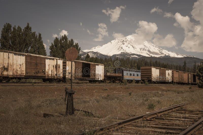 Mount Shasta royalty free stock image