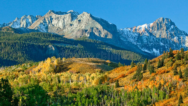 Mount Sneffel, Ridgeway, Colorado stock images