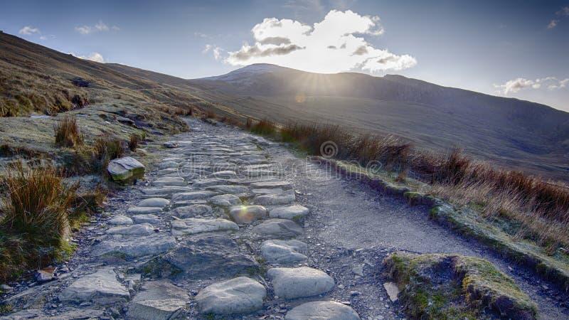 Mount Snowden Północna Walia Wielka Brytania obraz stock