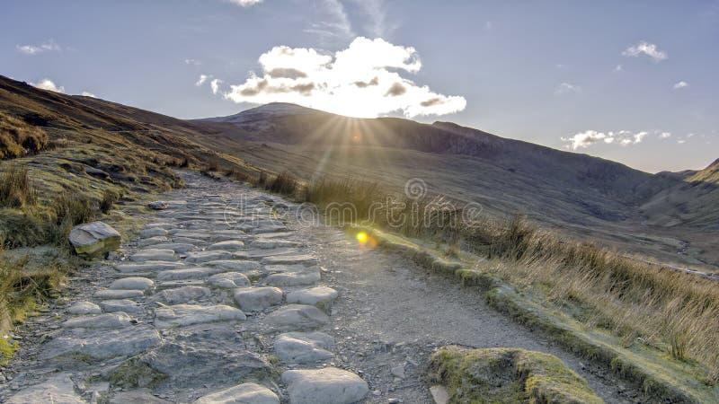 Mount Snowden Północna Walia Wielka Brytania obraz royalty free