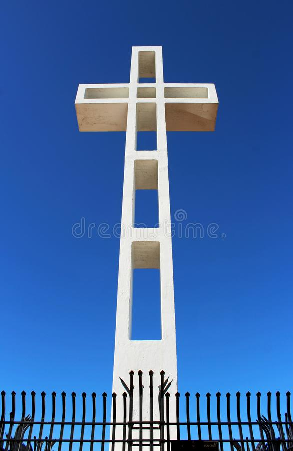 The Mount Soledad cross monument, San Diego. The Mount Soledad cross monument under the clear blue sky of California. Jump to search Mount Soledad. Mount Soledad stock image