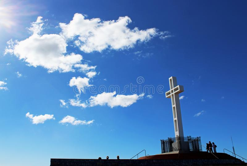 The Mount Soledad cross monument, San Diego. The Mount Soledad cross monument under the clear blue sky of California. Jump to search Mount Soledad. Mount Soledad royalty free stock image