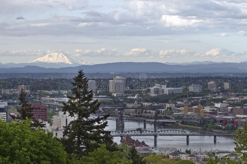 Mount St. Helens from Portland Oregon stock images