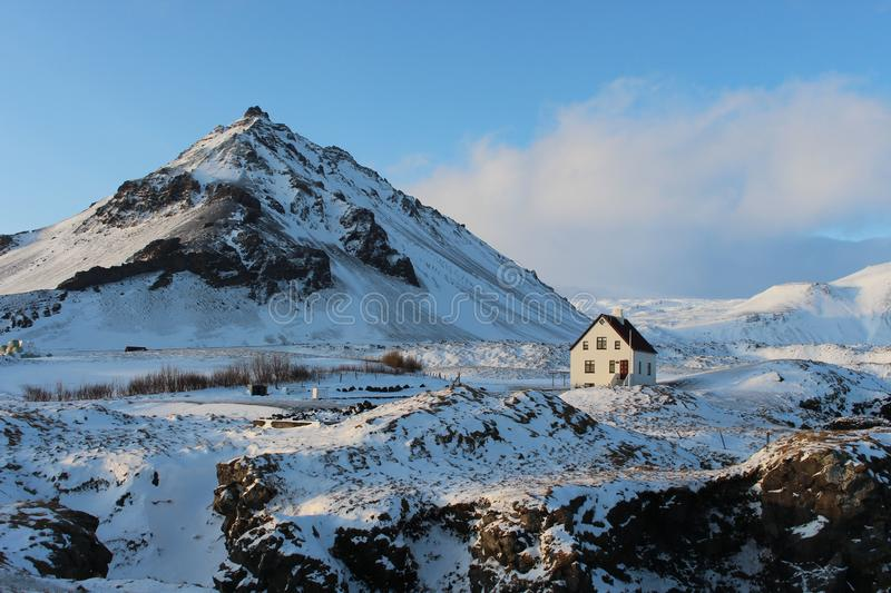 Mount Stapafell, Iceland royalty free stock photography
