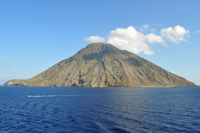 Mount Stromboli stock photography