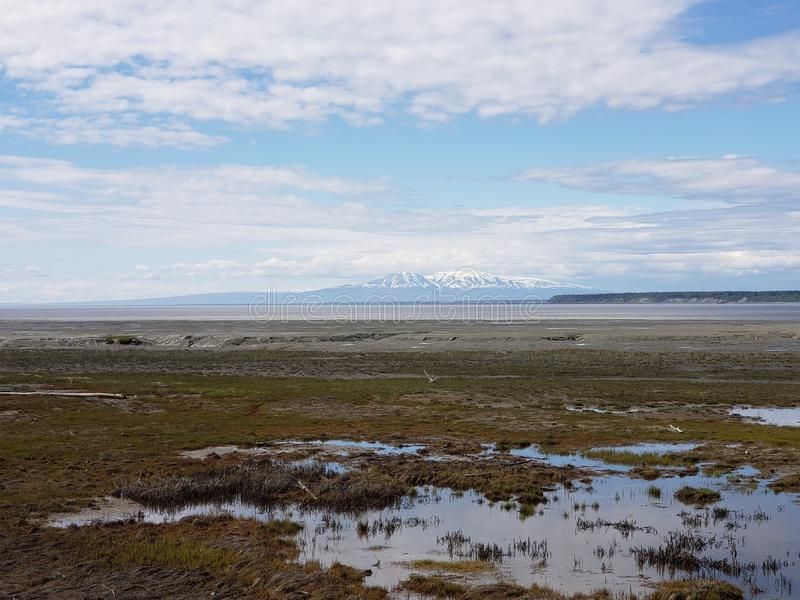 Mount Susitna The Sleeping Lady royalty free stock images