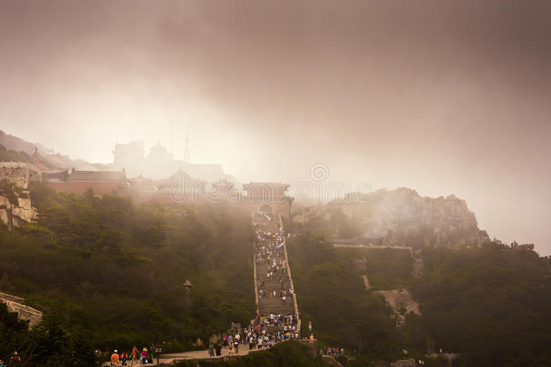 Download Mount Tai stock photo. Image of architecture, ladder - 25933882
