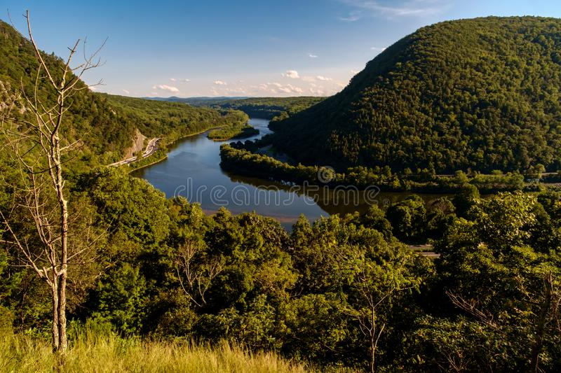 Mount Tammany Delaware Water Gap. View of Mt. Minsi from the top of Mount Tammany near the Delaware Water Gap royalty free stock photo