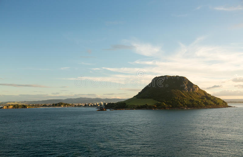 The Mount at Tauranga in NZ stock photography