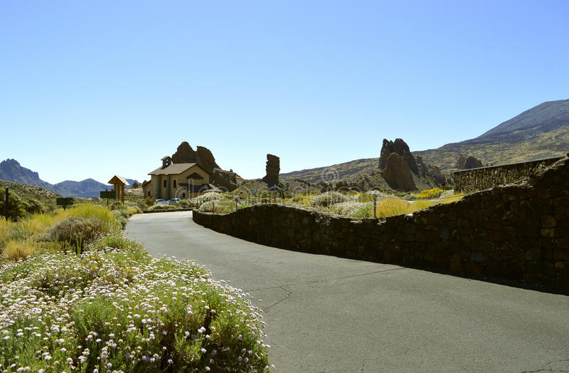 Mount Teide National Park church stock images