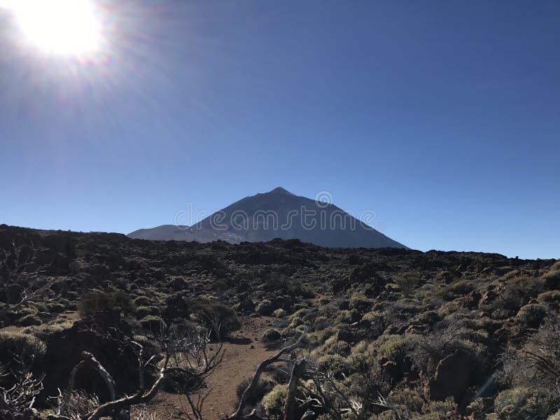 Mount Teide. On Tenerife Canary Islands stock photo