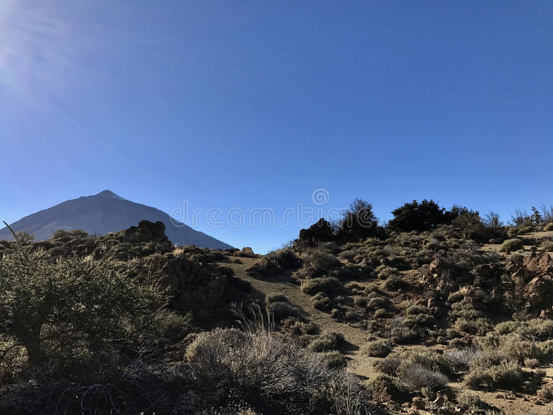 Mount Teide. On Tenerife Canary Islands royalty free stock image