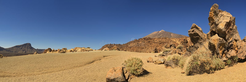 Mount Teide on Tenerife, Canary Islands, Spain stock photography