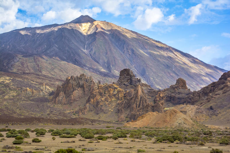 Mount Teide. Is the third highest volcanic structure and most voluminous in the world. It is the highest peak on the Canary Islands and in the whole of Spain.It stock photos