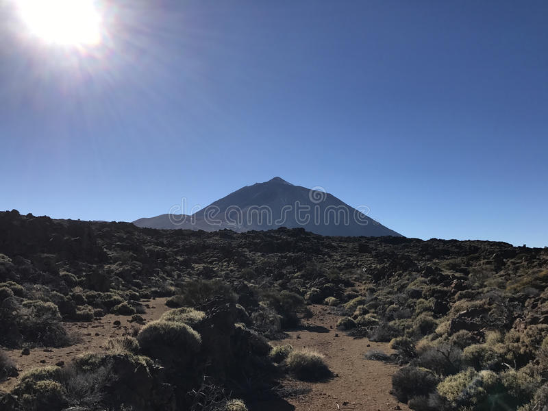 Mount Teide. A volcano in Tenerife royalty free stock photo