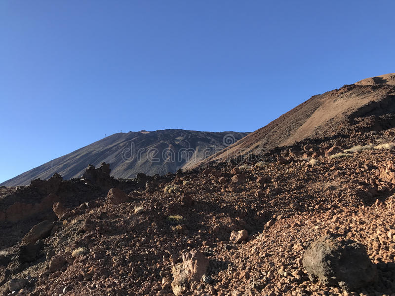 Mount Teide. A volcano on Tenerife in the Canary Islands stock photography