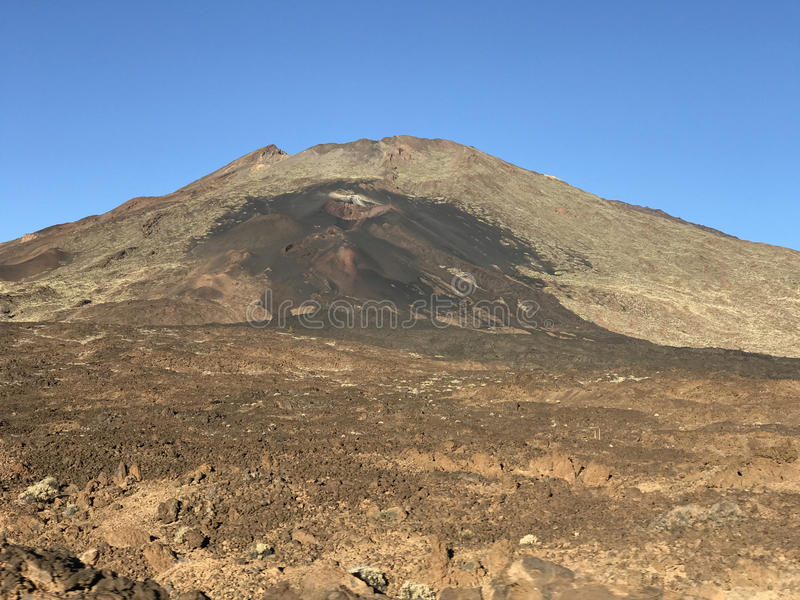 Mount Teide. A volcano on Tenerife in the Canary Islands stock photos