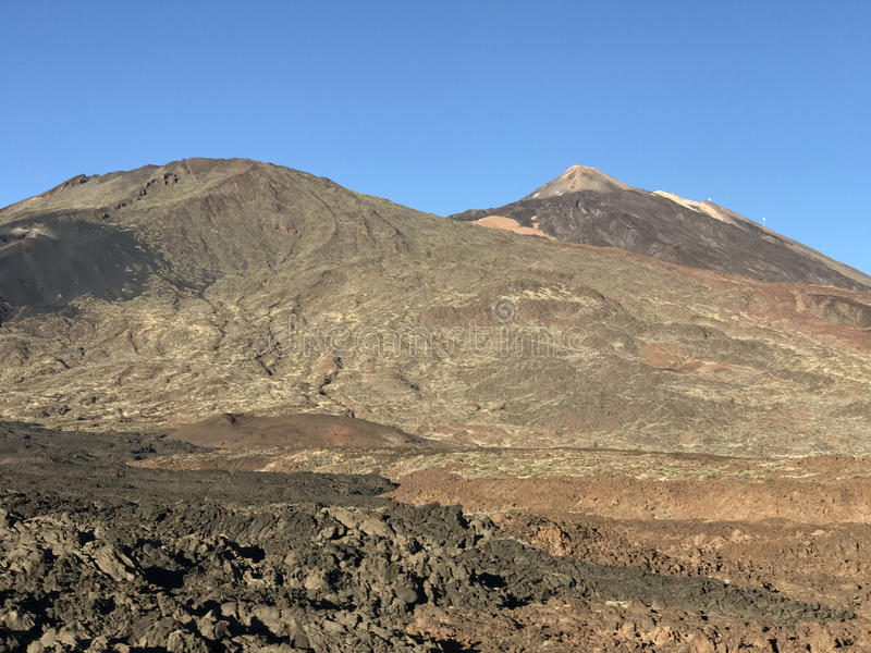 Mount Teide. A volcano on Tenerife in the Canary Islands royalty free stock images
