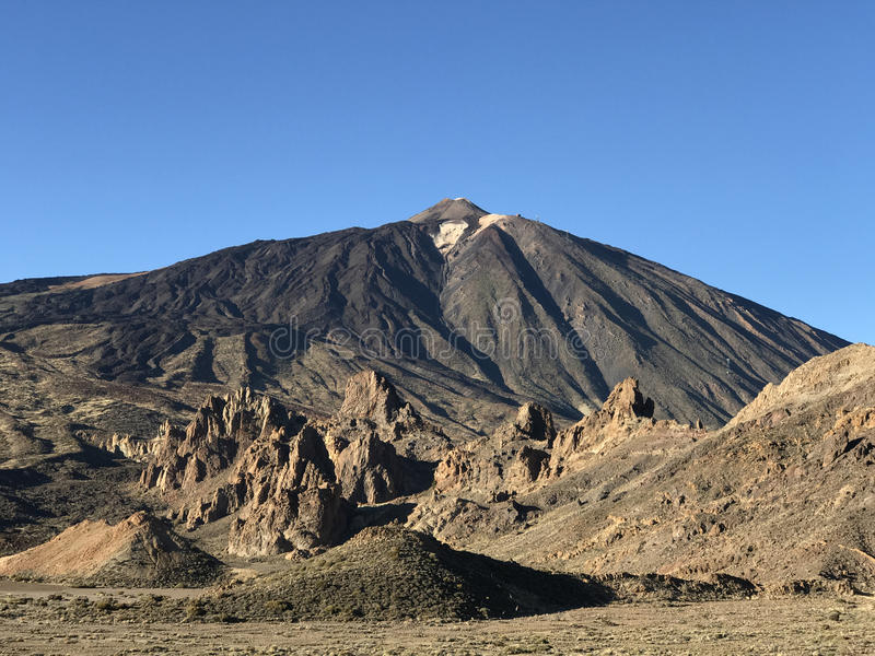 Mount Teide. A volcano on Tenerife in the Canary Islands stock photo