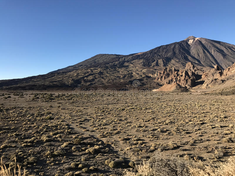 Mount Teide. A volcano on Tenerife in the Canary Islands stock images