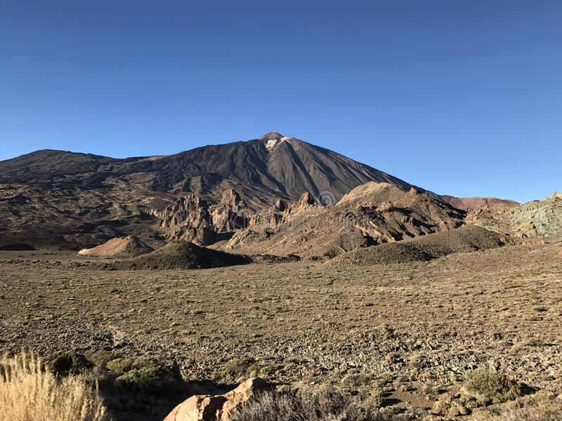 Mount Teide. A volcano on Tenerife in the Canary Islands royalty free stock photo