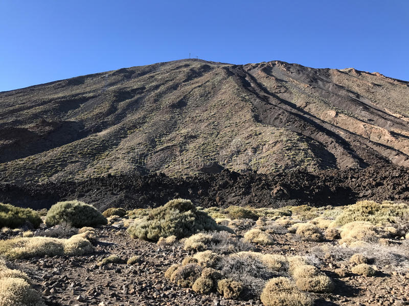 Mount Teide. A volcano on Tenerife in the Canary Islands royalty free stock image